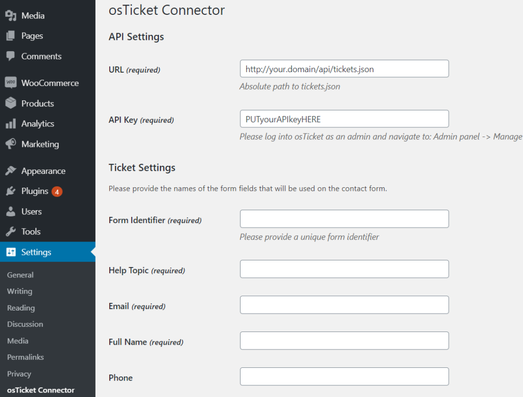 OsTicket-Wordpress Integration to Automate Ticketing System