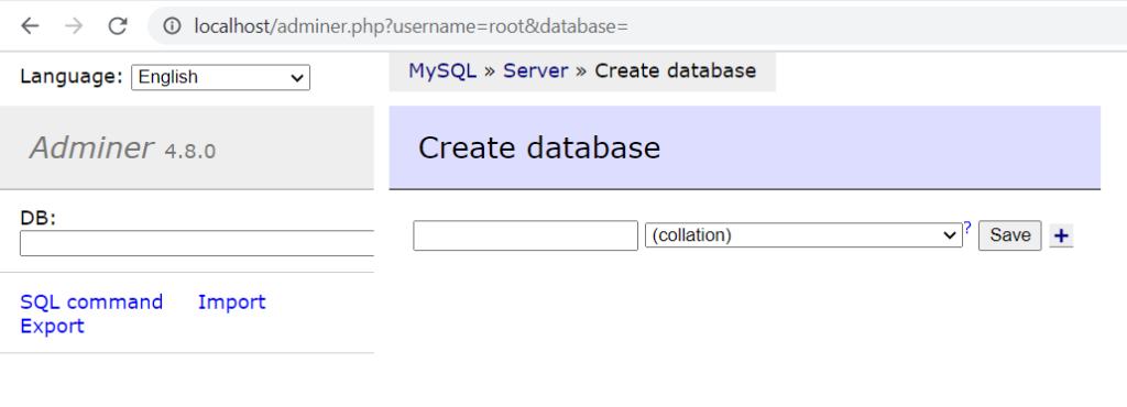 Manage Databases with Adminer Database Management Tool