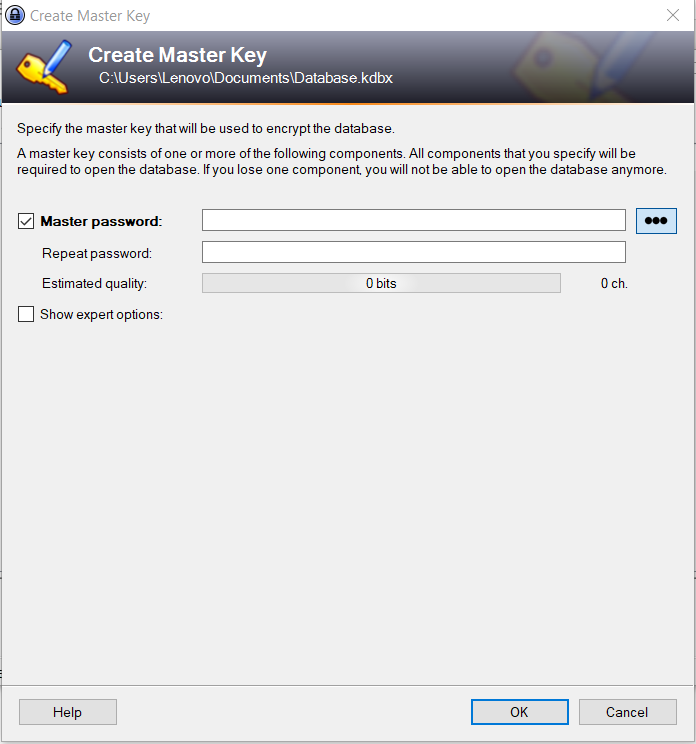 Setup and Manage KeePass Password Manager For Windows