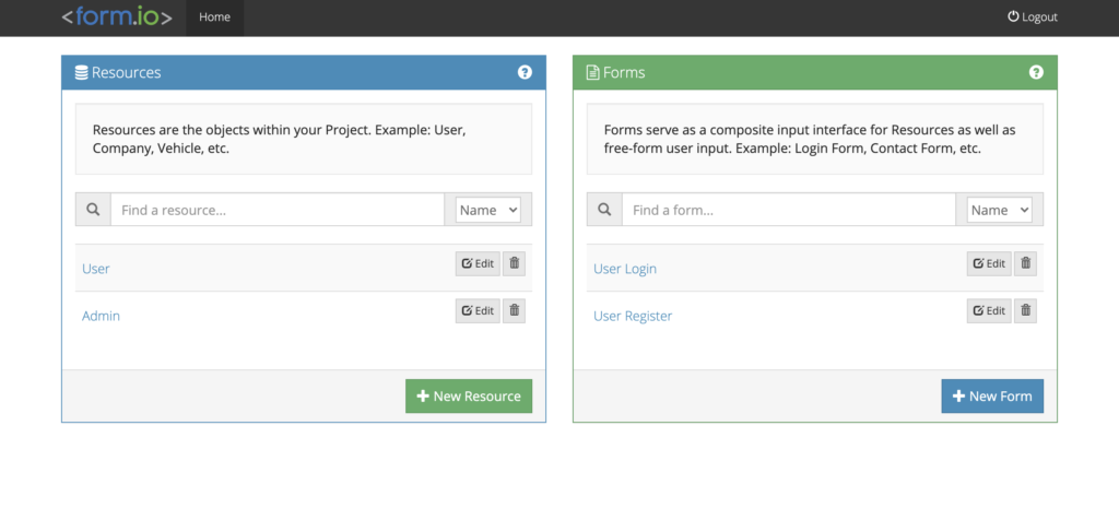 drag and drop html form builder